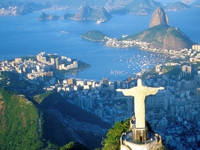 The Christ statue and a view of Rio de Janeiro, included in many South American vacations offered by Southern Crossings..