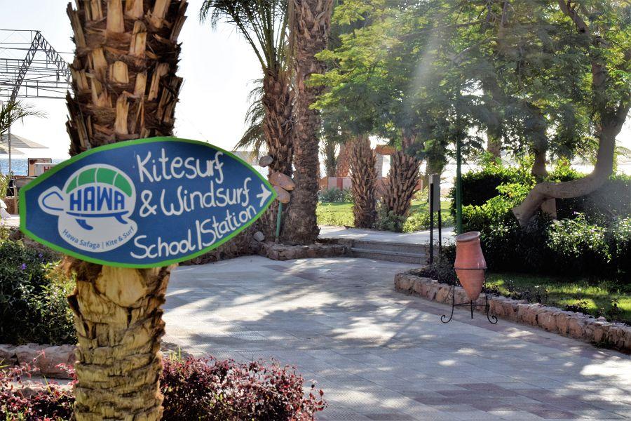 Die Kite Schule ist direkt im Menaville Resort Hotel
