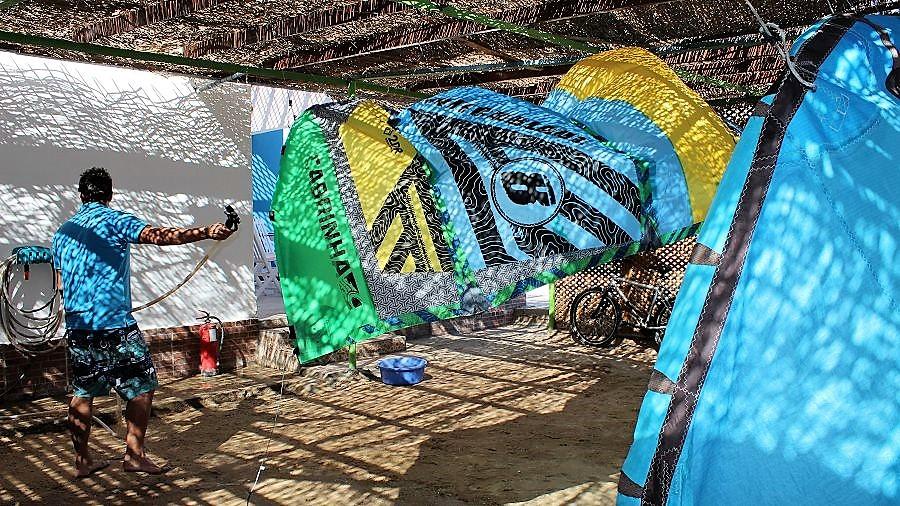 washing service kite school Soma Bay