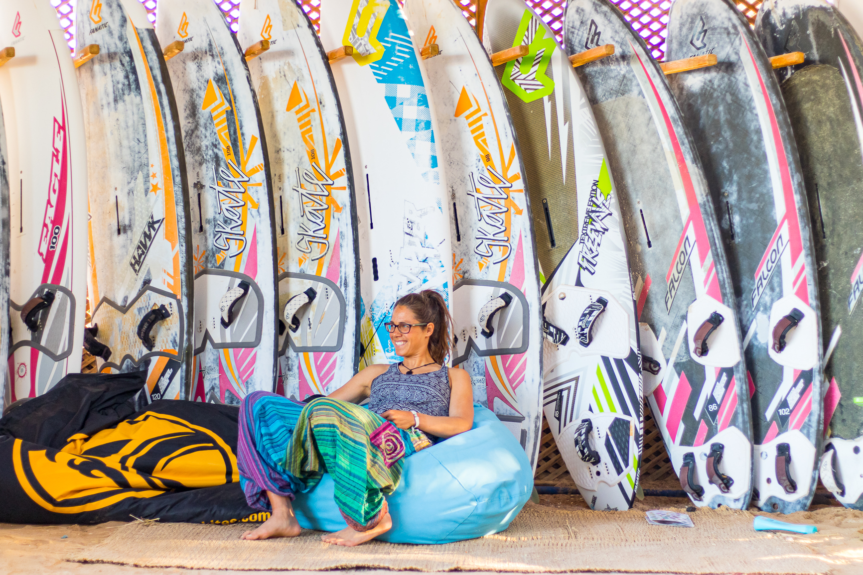 Chillout bei den Surf Boards