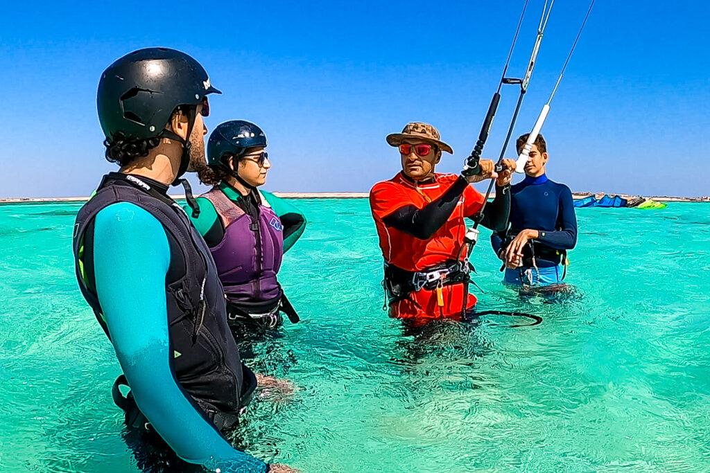 Coaching beim Kiten