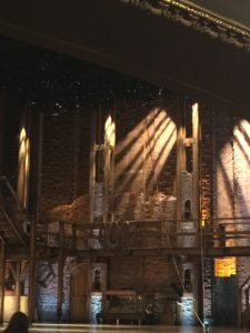 The set of Hamilton in Chicago
