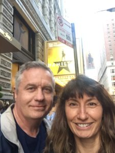 Todd and Oana excited to see Hamilton in Chicago