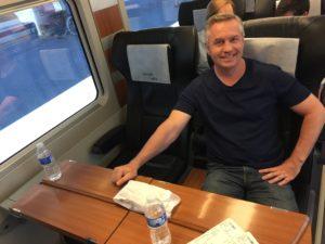 Comfortable train ride to Madrid
