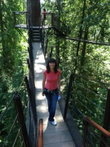 Oana at Capilano Suspension Bridge Park