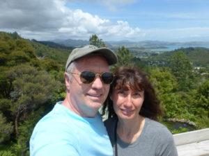 Todd & Oana on top of Driving Creek Railway