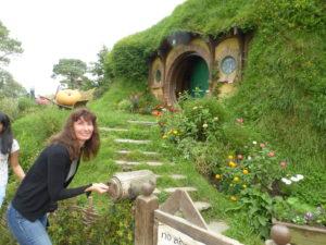 Oana at Bilbo's place