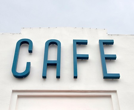 Customized channel letters for CAFÉ in Pflugerville, Texas