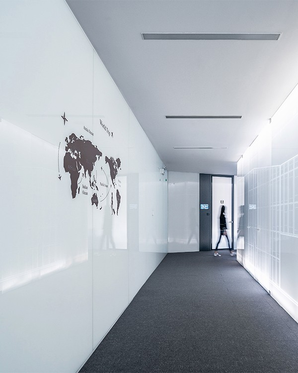Office lobby wall murals in Pflugerville, Texas
