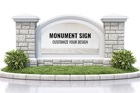 Customize monument signs for your business by Stryker Designs in Pflugerville, TX