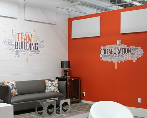 Office wall murals by Stryker Designs in Pflugerville, TX