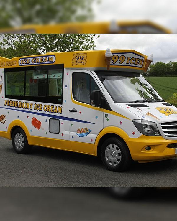 Fresh Dairy Ice Cream vehicle wraps in Austin, Texas