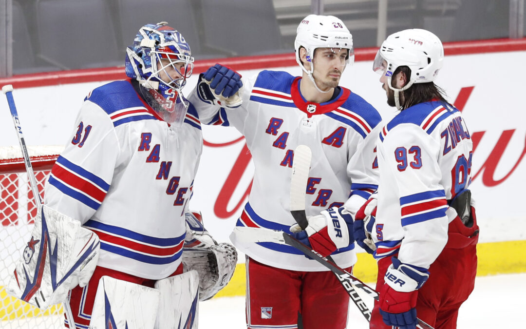Where will the Rangers finish in the Metropolitan Division table?