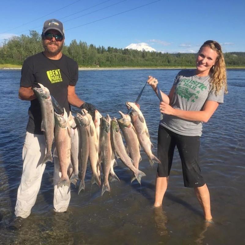 reds, Sockeye Salmon, Gulkana River, salmon fishing, Alaska, fishing