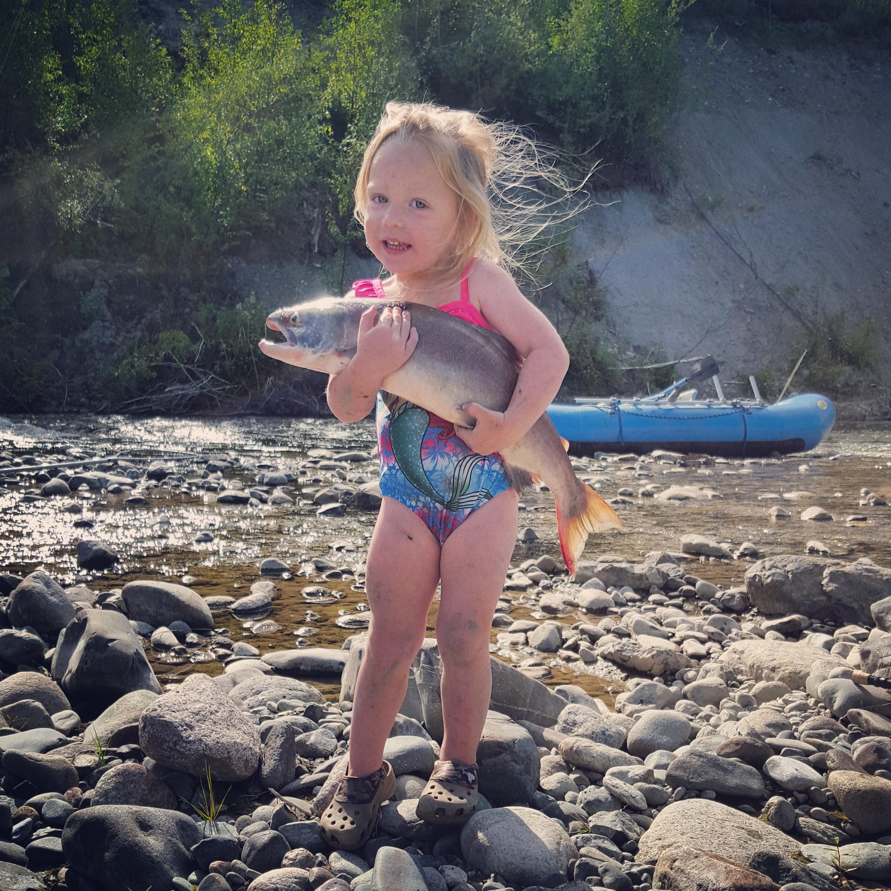Sockeye Salmon, rafting with kids, children, paddling, boating, fishing