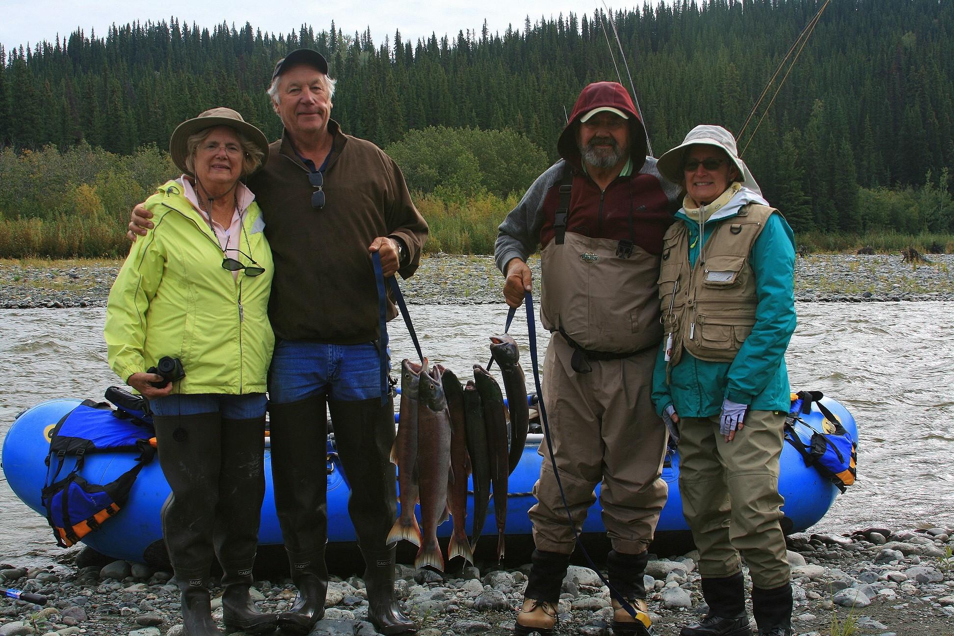 fly fishing, Gulkana River, Alaska, river, rafting, salmon fishing, Sockeye Salmon, Red Salmon,