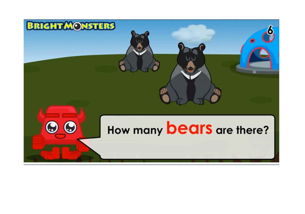 Bright Monsters - Counting 2 bears.