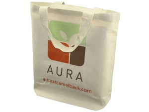 Custom reusable tote bag for spa and retail