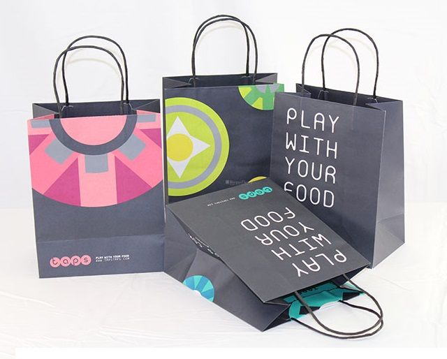 Custom Shopping Bags with Paper Handles