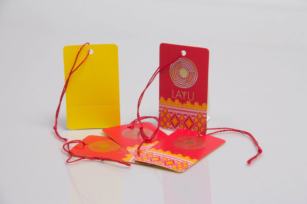 Custom printed luxury hang tags