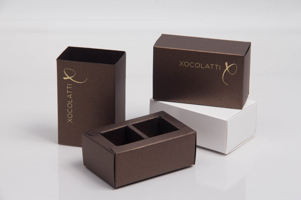 Custom printed chocolate box