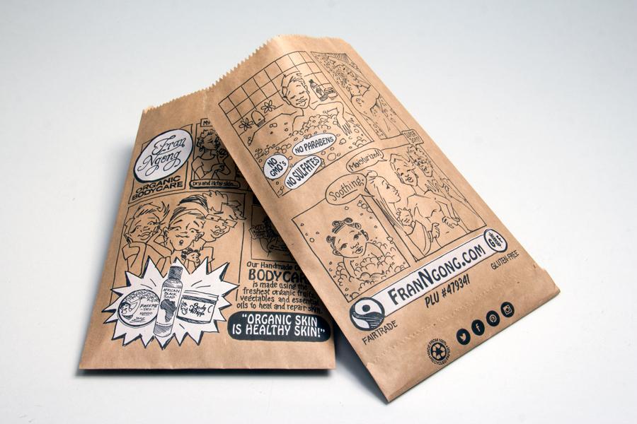 Creative custom printed paper bags