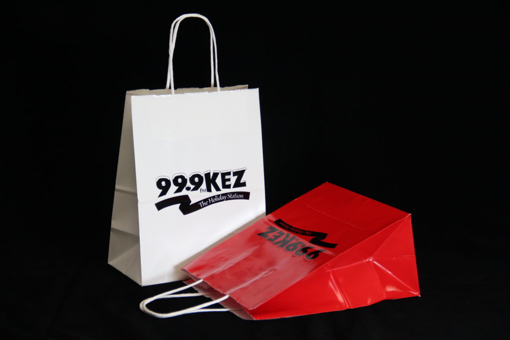 Custom printed paper bags for holiday