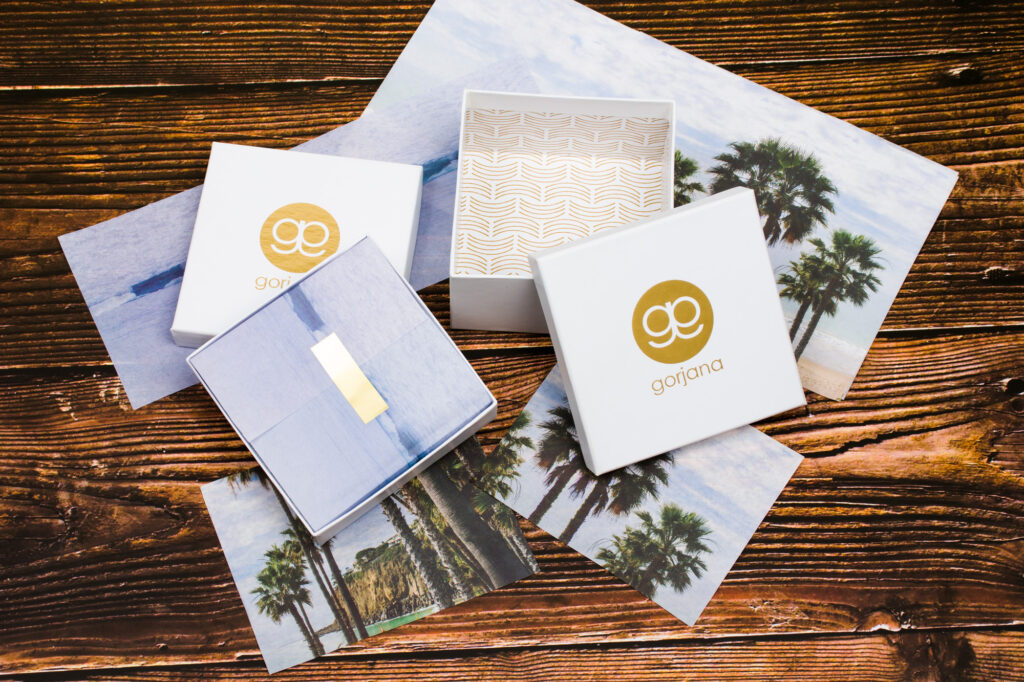 Custom printed gift boxes and tissue paper - luxury branded packaging
