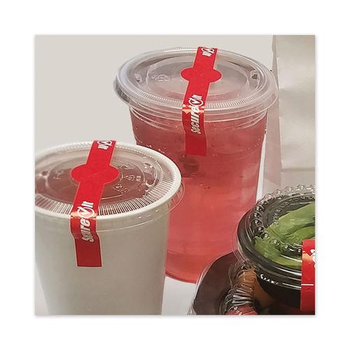 Tamper evident seals for cups