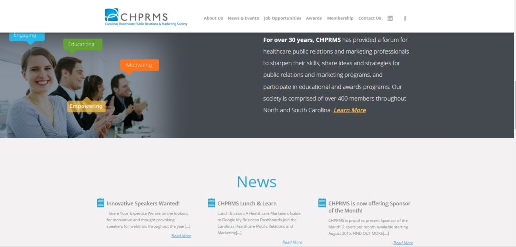 CHPRMS website design