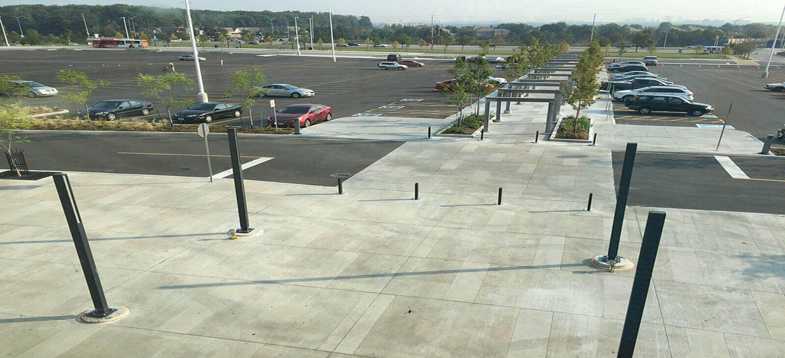 parking lot concrete