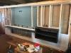 Audio cabinet area installed