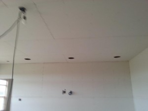 Front 3 speakers for an in ceiling theater system