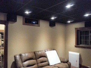 Projector running in a 9.1 surround system