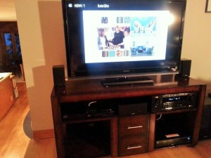 New DENON AVR-3100W wireless network receiver/ Harmony Ultimate Home remote control system with a new Apple TV