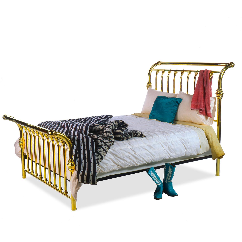 128 Sleigh Brass Bed