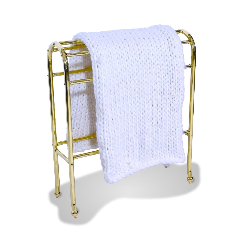 226 Arched Brass Blanket Rack