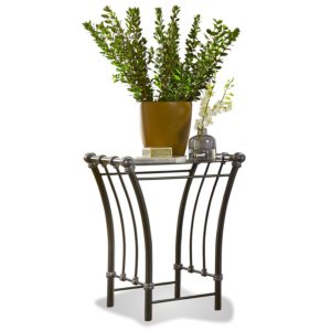 Gunmetal Sleigh End Table