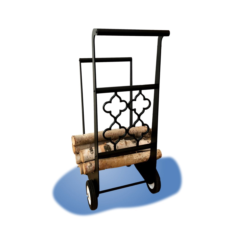 Gothic Iron Firewood Cart