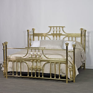 Custom Imperial Brass Bed King with onyx parts
