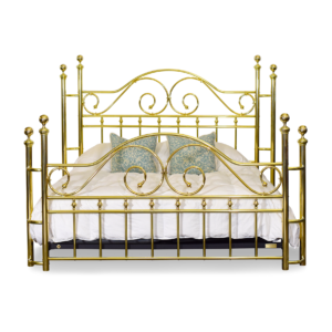 130-SW Swirls and Curls Brass Bed Side Wrap Posts