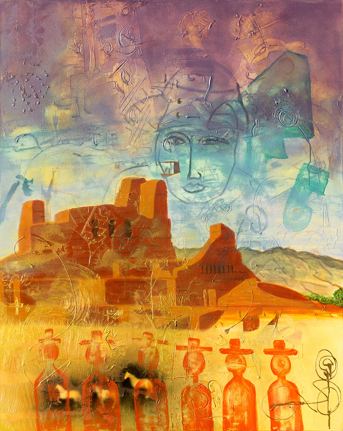 Abo, 2104, Acrylic on Canvas ©2014 Dan Badgley