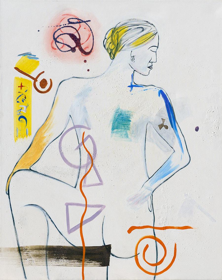 Firgurative #276, Acrylic on Canvas, ©2008 Dan Badgley