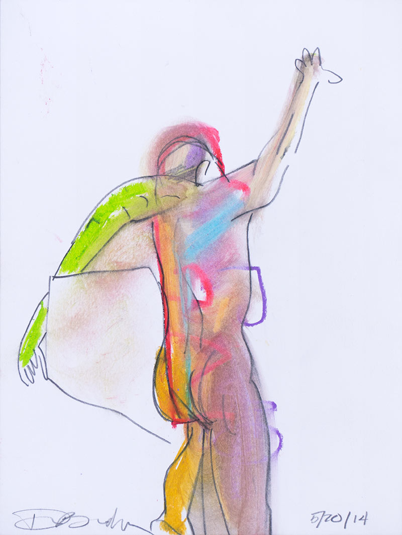 Figurative #2230, Mixed Media on Paper, 2014 © Dan Badgley. All rights reserved.
