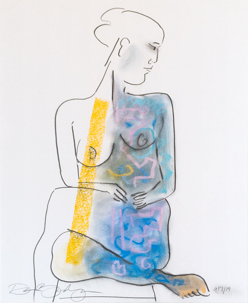 Figurative #279, Mixed Media on Paper, 2014 © Dan Badgley. All rights reserved.