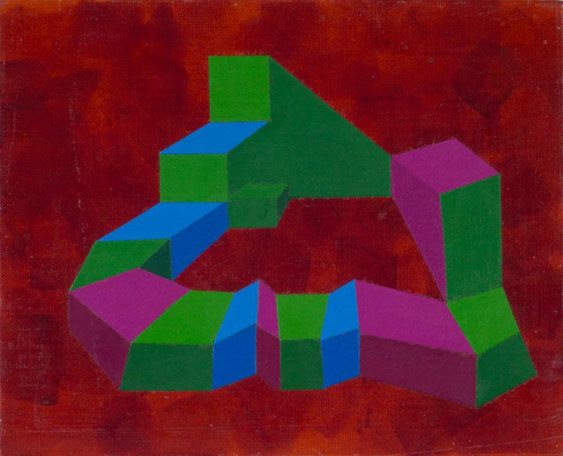 Abstract II, Acrylic on Canvas © Dan Badgley