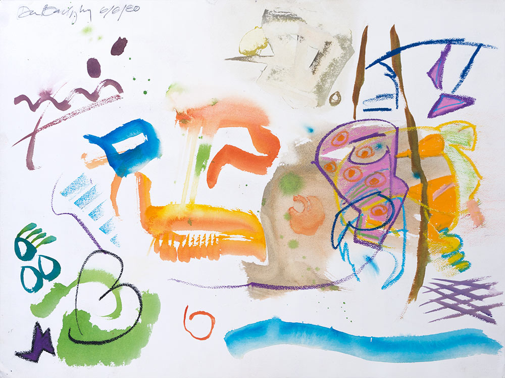 Abstract #388, Mixed Media on Paper, 1980 © Dan Badgley. All rights reserved.