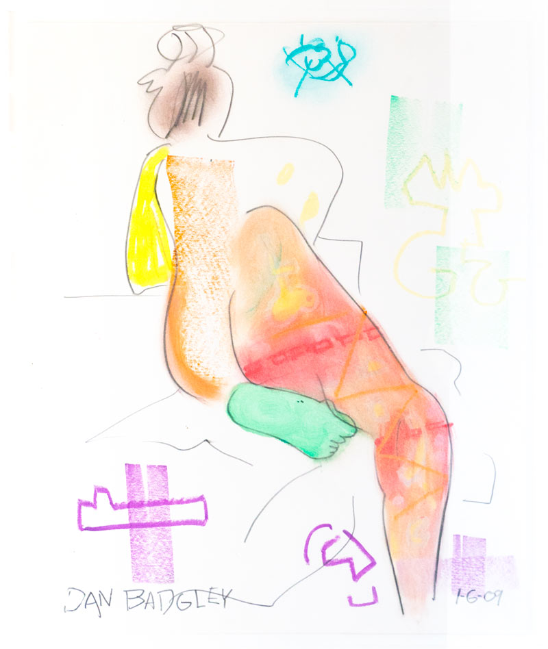 Figurative #280, Mixed Media on Paper, 2009 © Dan Badgley. All rights reserved.