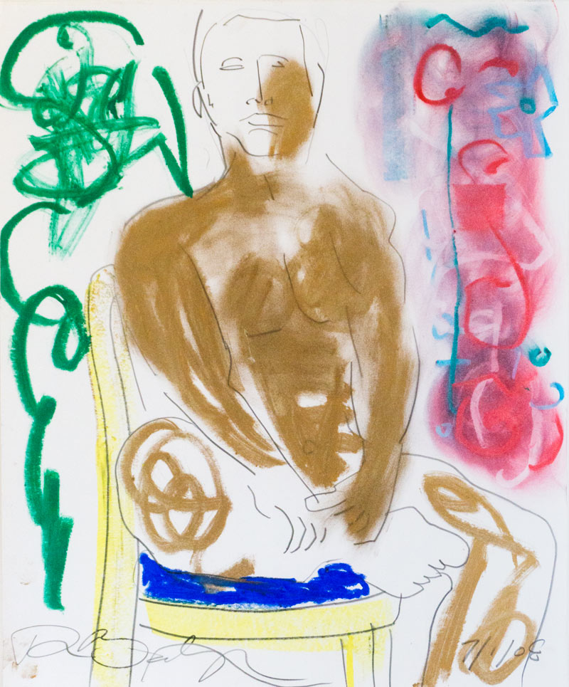 Figurative #283, Oil Pastel on Paper, 2008 © Dan Badgley. All rights reserved.