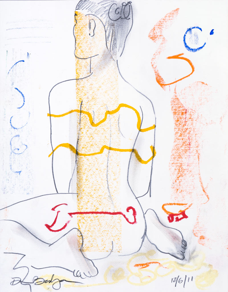 Figurative #2252, Graphite & Oil Pastel on Paper, 2011 © Dan Badgley. All rights reserved.